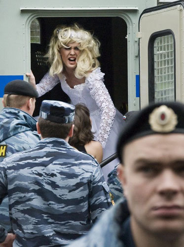 Russian Gay Pride Parade Broken Up By Police
